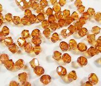 40 Topas Gold AB Böhmische Glasperlen 4mm Tschechische Kristall Perlen X12