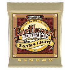 Ernie Ball Acoustic Guitar Strings Earthward 2006 80/20 BRONZE Extra Light 10-50