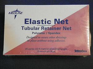 sealed: Medline Elastic Net Tubular Retainer Net Polyester Latex free 25 yards