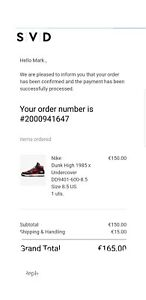 Undercover X Dunk High 1985 US 8.5 NEW