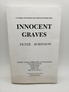 Innocent Graves, Peter Robinson, Uncorrected Proof for Limited Distribution