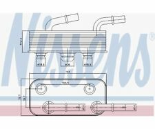 Nissens Oil Cooler, automatic transmission 90657