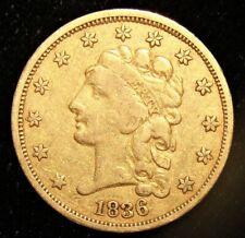 1836 G$2 1/2 Gold Dollar