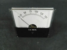 Jewell Electrical Instruments MS2 0-150 AC Volts Indicator Panel Meter