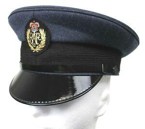 RAF ROYAL AIR FORCE PEAKED CAP with BADGE