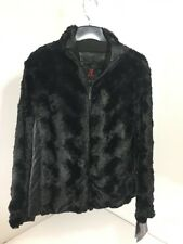 ADRIENNE LANDAU WOMEN'S FAUX FUR JACKET BLACK XL NWT