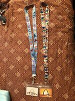 New DISNEY Aulani Resort Hawaii lanyard with plastic pouch mickey minnie mouse