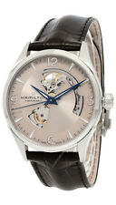 Hamilton Jazzmaster Silver Men's Watch with Brown Leather Band - H32705551