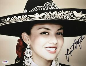 Lupita Infante Signed 11x14 Photo *Model *Musician PSA AC45868
