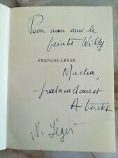 Nadine LEGER et André VERDET - à Willy MUCHA 1955 Fernand LEGER le dynamisme...