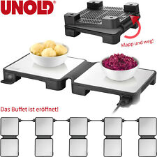 Buffetwärmer elektrisch Warmhaltegerät Speisewärmer Warmhalteplatte klappbar NEU
