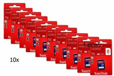 10x SanDisk 8GB SD SDHC 8G Retail Pack Class 4 Memory Card Lot of 10pcs