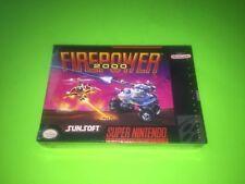 Firepower 2000 Super Nintendo SNES BRAND NEW FACTORY SEALED RARE SEAL VERSION