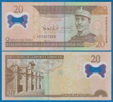 Dominican Republic 20 Pesos Oro P 182a 2009 Polymer UNC Low Shipping Combine 182