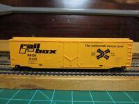"TYCO 339-F HO Scale 50' Plug Door Boxcar ""railbox"" with NMRA Couplers"