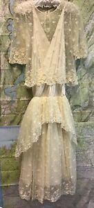 Vintage Wedding Dress 1920's Tiered