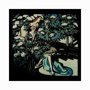 Arts and Crafts woodblock print - Mother Elder -  W Graham Robertson 1907
