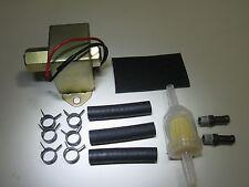 Universal Electric Fuel Pump Low Pressure 12 Volt 2-4 PSI Fittings Rubb Pad 7782