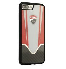 DUCATI CORSE D4 Silikon&Carbon iPhone 7 Plus, 8 Plus SCHUTZHÜLLE Back Case Weiß