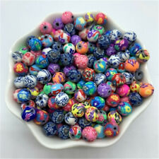10mm 100pcs Fimo Polymer Clay Beads Mixed Color  For Jewelry Making DIY Handmade