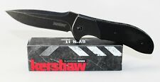 Kershaw Scrambler Knife Blackwash Plain Edge Black Textured G-10 Handle 3890BW