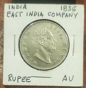 1835 EAST INDIA COMPANY SILVER RUPEE  KING WILLIAM IV ~ SHARP ABOUT UNCIRCULATED