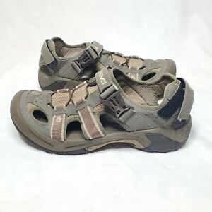 Teva S/N 6148 Omnium Fisherman Sport Brown Closed Toe Sandals Men's Size 10.5