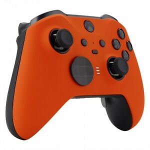 "ELITE Custom ""Black and Orange"" Xbox One Series 2 Official Microsoft Controller"