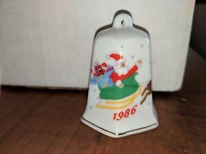 "Bell Christmas ornament LILLIAN VERNON 1986 Vintage 2 1/4"""