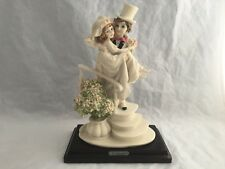 G. Armani Bride Groom Statue Porcelain Figurine Artist Sign Florence Italy 1988