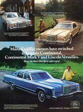 1978 Lincoln Town Car Continental Versailles Advertisement Print Art Car Ad J994