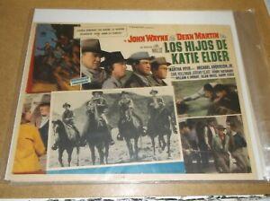 THE SONS OF KATIE ELDER(1965)JOHN WAYNE ORIGINAL MEXICAN LOBBY CARD NICE!
