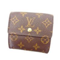 Louis Vuitton Wallet Purse Monogram Brown Woman Authentic Used A1132