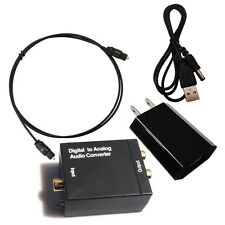 RCA Y14 Digital Optical Coaxial Toslink Signal to Analog Audio Adapter Converter