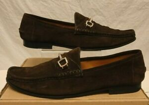 GUCCI HORSEBIT LOAFERS BROWN SUEDE SHOES 253303 UK 10 US 11 EU 44.5 RRP £550.00