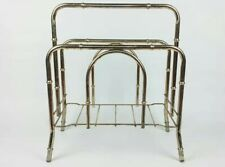 Vintage Brass Faux Bamboo Magazine Rack Holder