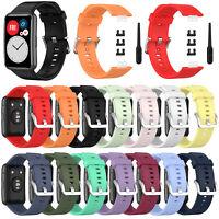 Silikon Sport Uhren Armband Ersatzband Für Huawei Watch Fit SmartWatch Strap MV