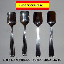 4 CUCHARITAS PARA HELADOS POSTRES ACERO INOX 18/10 MUY BELLAS ELEGANTES TARTAS