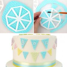 3x 3D Flag Fondant Cake Mold Sugarcraft Mould Cutter Decorating Cookies Bakeware
