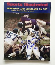 Dave Osborn #41 MN. Vikings Great Orig. Auto. 8x10 1970 SI Cover Photo W/COA #10