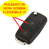 2-BOTTONI COVER KEY GUSCIO COMPATIBILE CON VOLKSWAGEN PASSAT GOLF POLO BORA