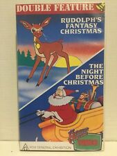RUDOLPHS FANTASY CHRISTMAS (BURL IVES) + THE NIGHT BEFORE CHRISTMAS ~ VHS VIDEO