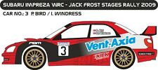 DECALS 1/43 SUBARU IMPREZA WRC #3 - BIRD - JACK FROST STAGES RALLY 2009 - D43203