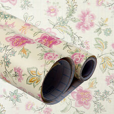 Self-adhesive Wallpaper Retro Flower Shelf Drawer Liner Wall Sticker 45x200cm