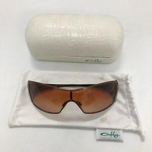 Oakley Sunglasses Womens Bronze Shield Style Spring/Summer Casual Case 111084