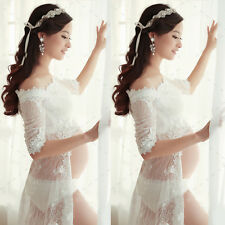 Maternity Photography Props White Lace Gown Belly Dress For Pregnant Women