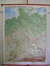 Scheda crocifissi Muro Carta BR Deutschland BRD + ex RDT fisicamente ~ 2000 98x132 CARD MAP