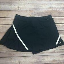 New Nike Fit Dry Tennis Skirt Sz 8 Gray Nylon Pockets Shorts under Golf Grey FF
