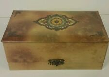 """Vintage dated 1893 Celluloid vanity box with clasp 9.75"""" x 5.5""""x4"""""""