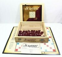 OFFICIAL Scrabble Crossword Game In A Wooden Box Parker Brothers 2 To 4 Players